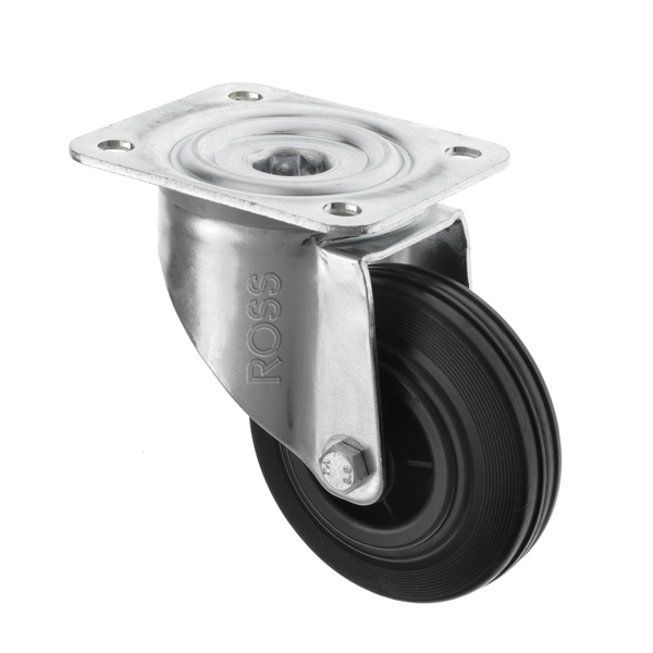 3360 Series Casters Black Rubber Wheel