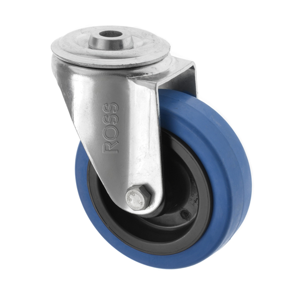 4000 Series Casters Blue Rubber Wheel