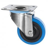 Stainless Steel Castors SS Series Medium Duty Blue Rubber