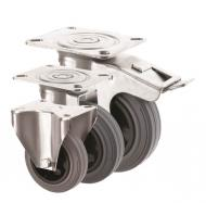 BUDGET Grey Rubber Castors 2260 Series