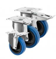 Blue Rubber Castors 3360 Series