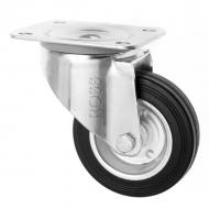 3360 Series Black Rubber Metal Centre Caster Wheels
