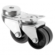 Industrial Twin Wheel Castors - Piano Castors