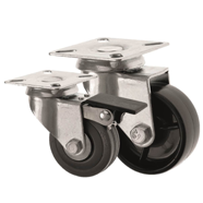 BUDGET Light Duty Castors with Top Plate Fitting