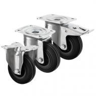 Black Rubber Castors 3360 Series