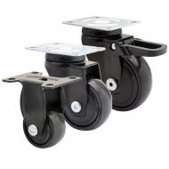 Black Designer Soft Running Castors