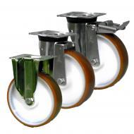 LAG Castors INOX40 Series Orange Polyurethane