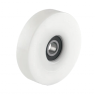 White Nylon Guide Rollers