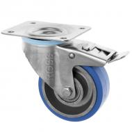 SS Series Medium Duty Stainless Steel Casters High Temp Rubber Wheel