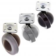 Shepherd Castors with Plate Fitting
