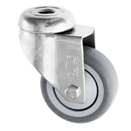 Stainless Steel Castor Thermoplastic Rubber Wheels Bolt Hole SSL Series