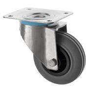 Stainless Steel Castors SS Series Medium Duty Rubber Wheel