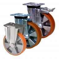 Aluminium with Polyurethane LAG Castors