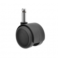 Twin Wheel Castors Circlip Fitting Rubber Wheel TW Series