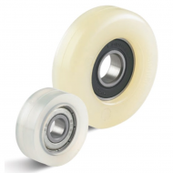 White Polyurethane Guide Rollers