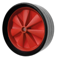 Wide Tread Rubber Trolley Wheels