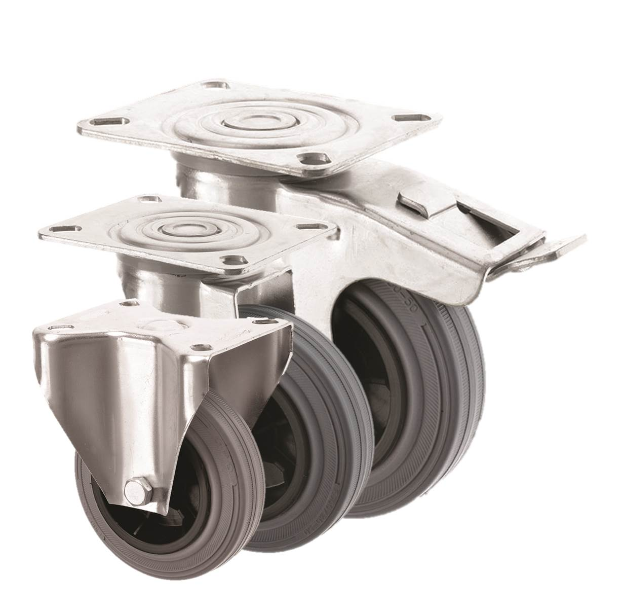 Grey Rubber Castors 2260 Series