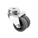 Bolt Hole Castors Rubber Wheel 360 Series