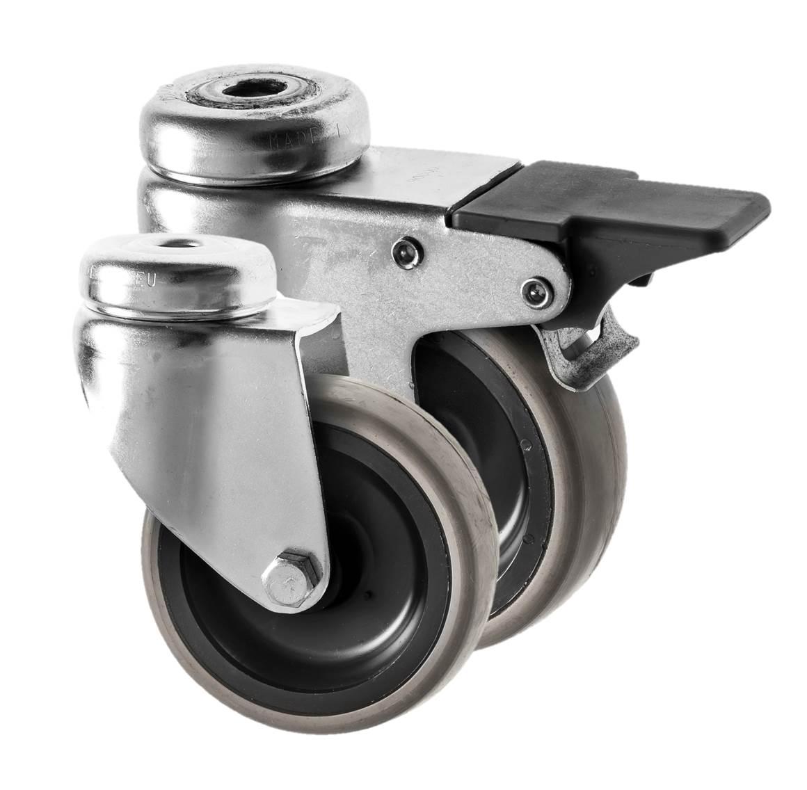 Small Castors Rubber Wheel 310 Series
