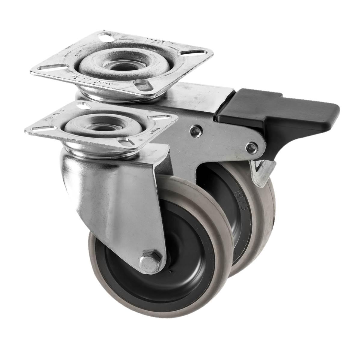 Castors Rubber Wheel 314 Series