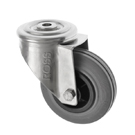 Stainless Steel Castors SS Series Medium Duty Bolt Hole Rubber Wheel