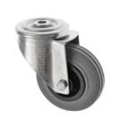 Stainless Steel Castors SS Series Medium Duty Bolt Hole Rubber Wheel