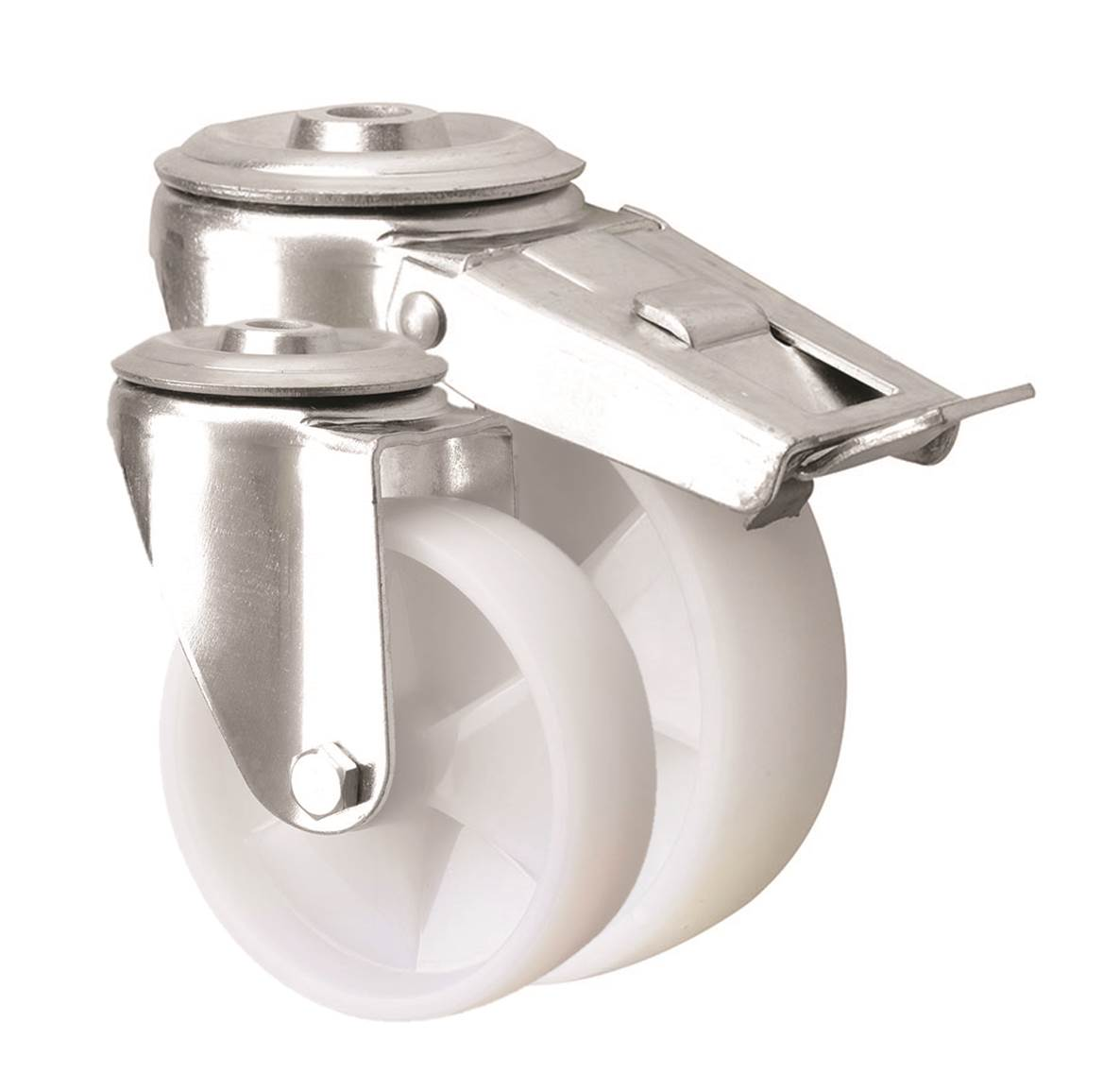 Bolt Hole Castors Nylon Wheel 4000 Series
