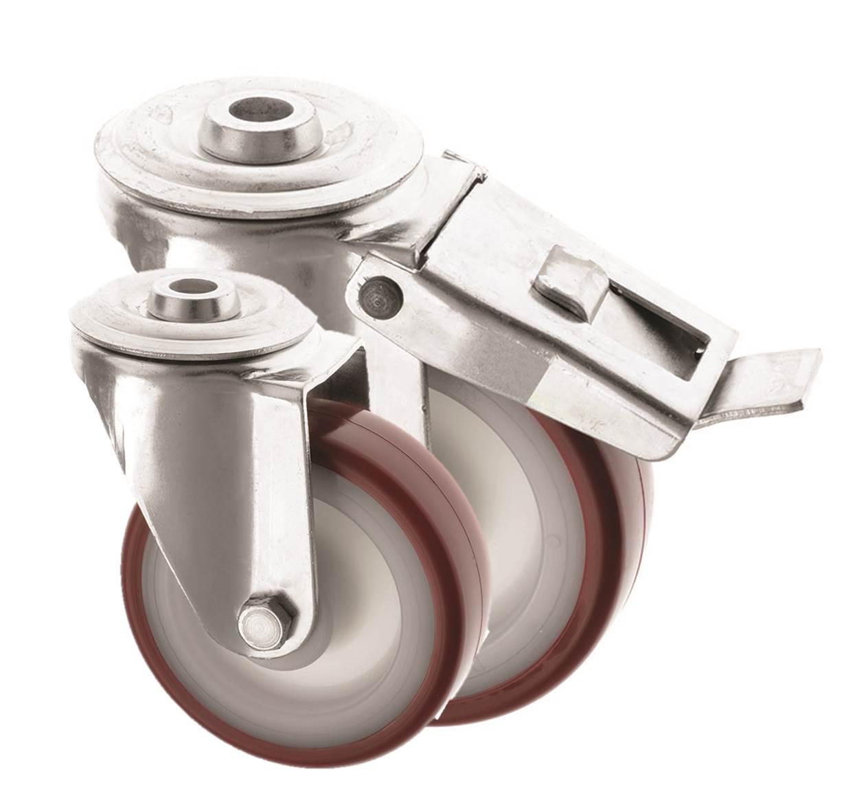 Bolt Hole Castors Polyurethane Wheel 4000 Series
