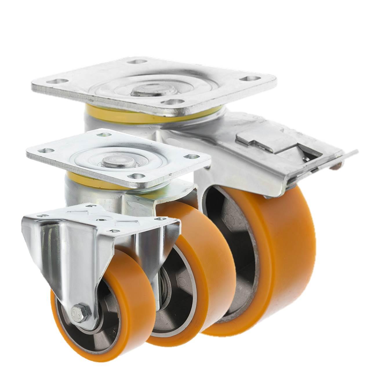 Heavy Duty Polyurethane Castors Aluminium Centre 5000 Series