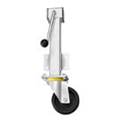 Heavy Duty Jacking Castors Rubber Wheel RH Series