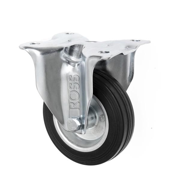 Rubber Fixed Castor Wheels