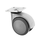 Twin Wheel Castors Plate Fitting BS Series