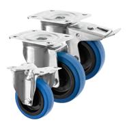 Blue Rubber Castors 3360 Series