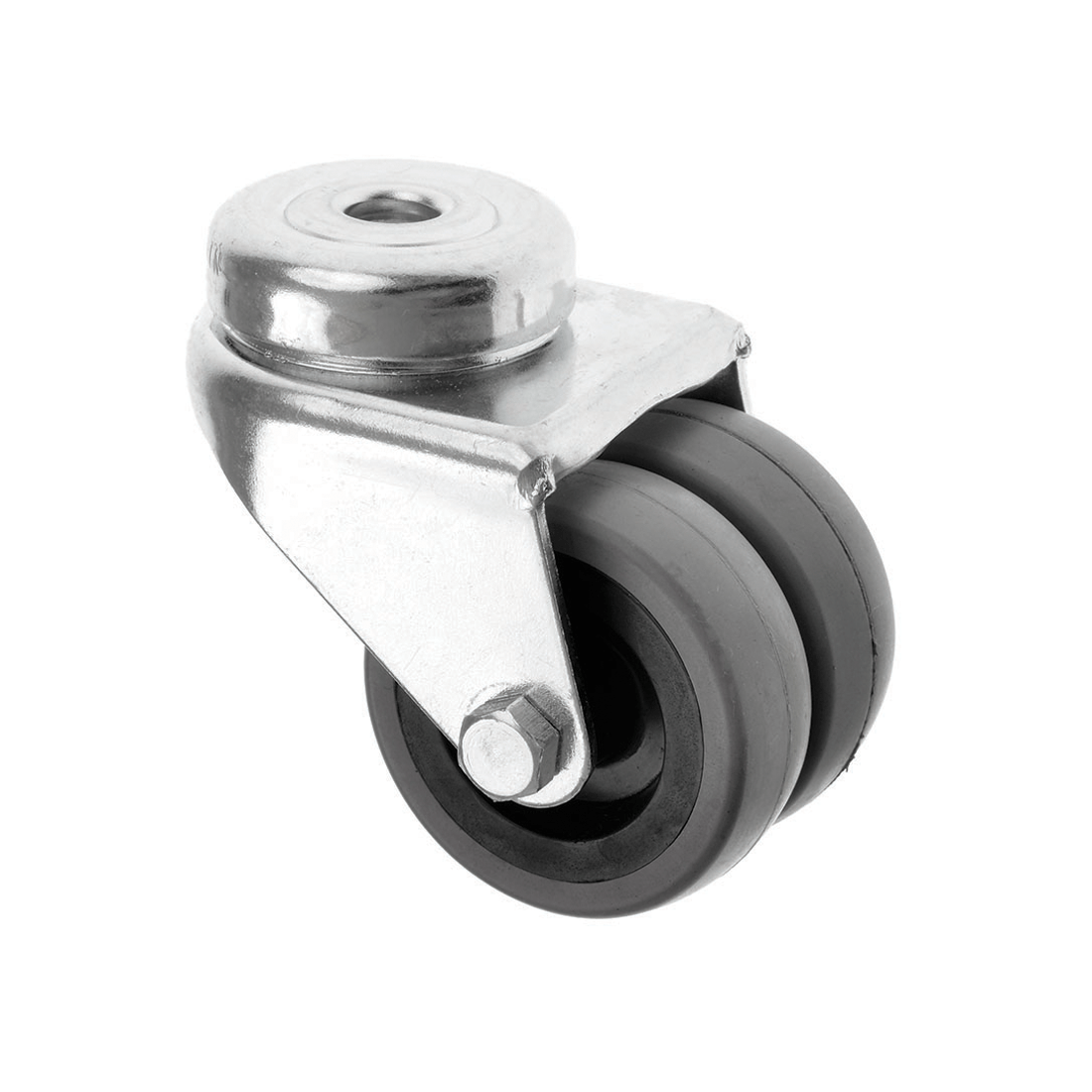 Bolt Hole Rubber Twin Wheel Castors 360 Series