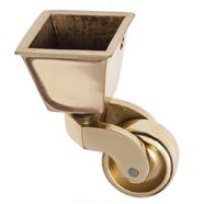 Brass Square Cup Castors
