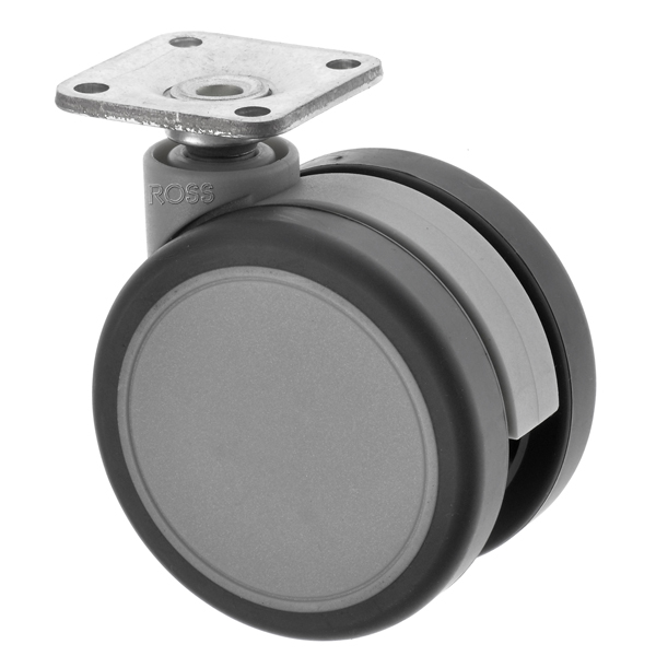 Twin Wheel Furniture Castors Plate Fitting DS Series