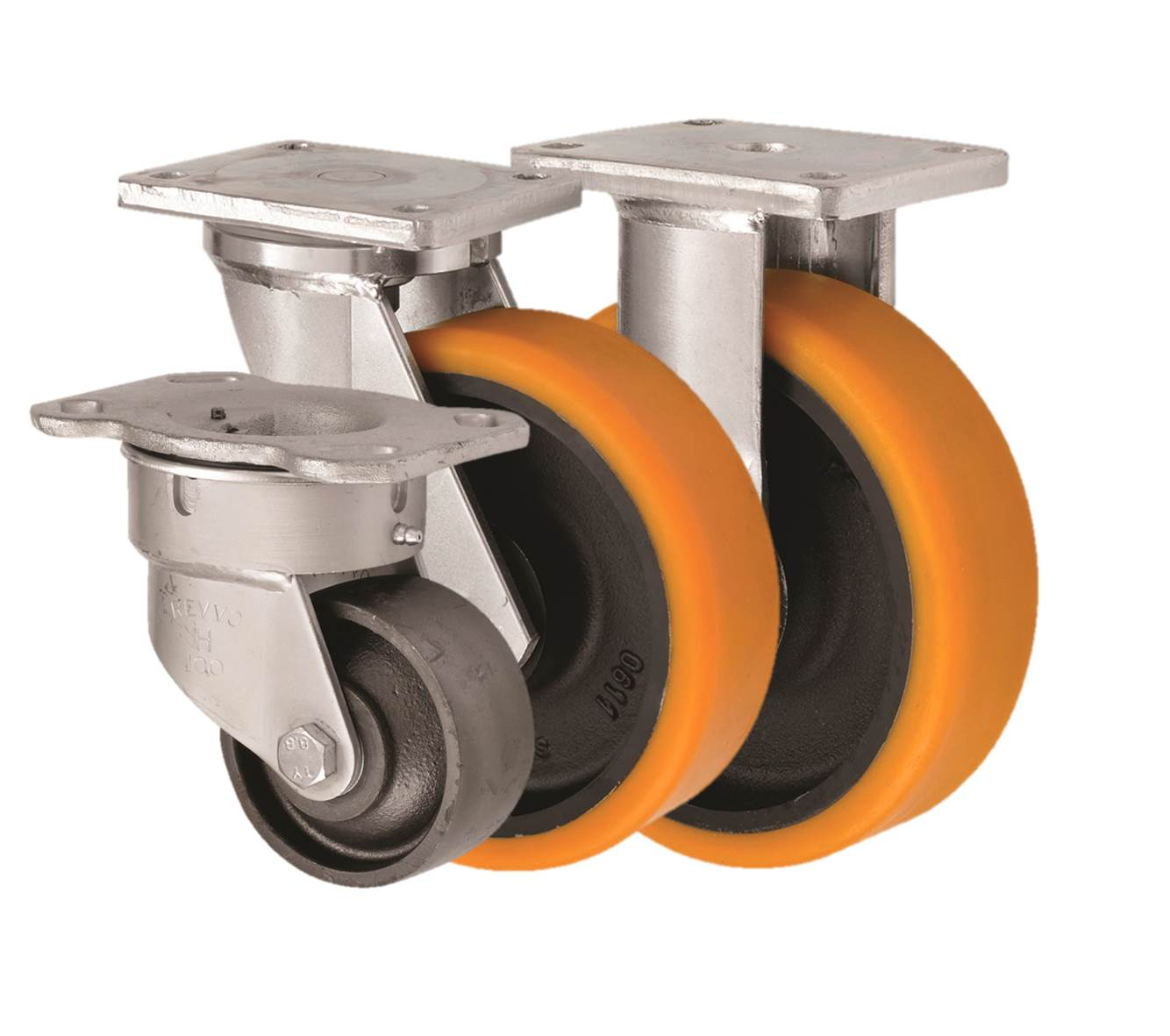 Fabricated Castors Extra Heavy Duty Top Plate