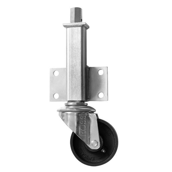 JA Series Medium Duty Jacking Casters Cast Iron Wheel