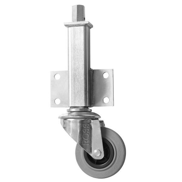 JA Series Medium Duty Jacking Casters Grey Rubber Wheel