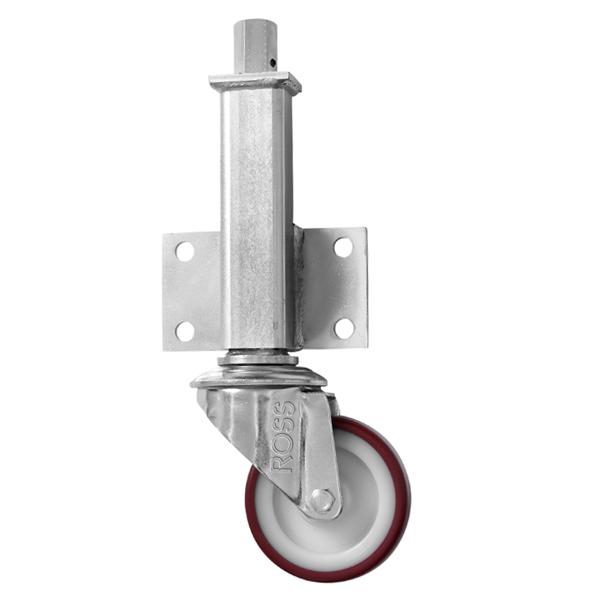 JA Series Medium Duty Jacking Casters Polyurethane Wheel