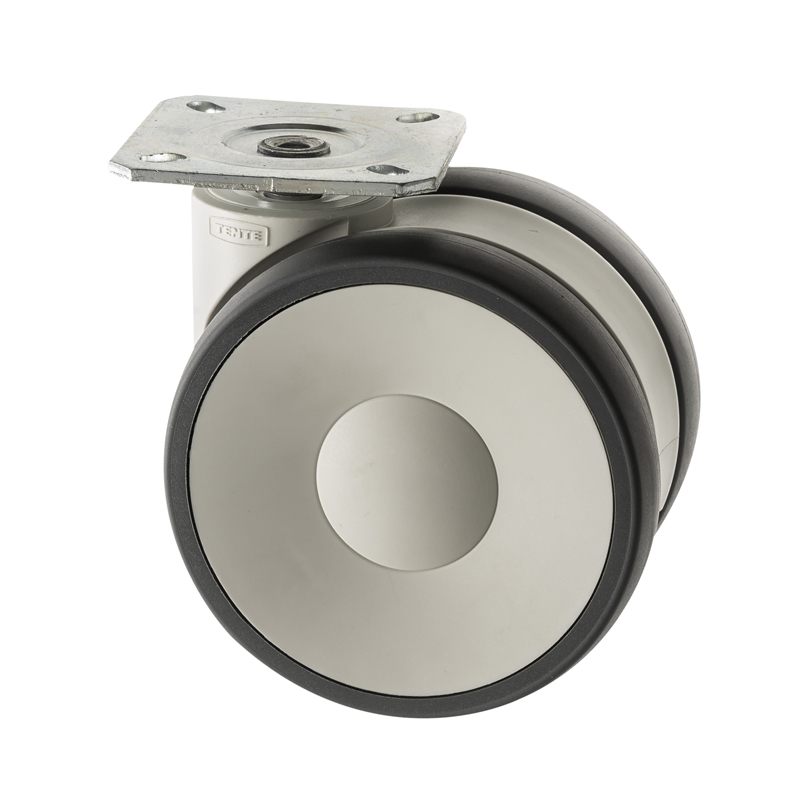 Designer White Furniture Castors Plate Fitting LS Series