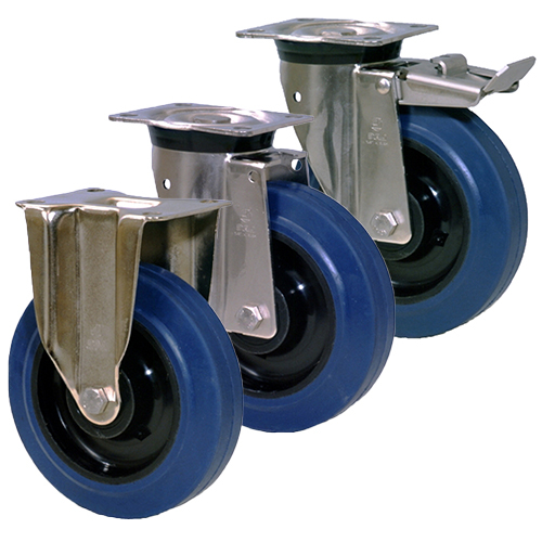 LAG Castors INOX40 Blue Elasticated Rubber