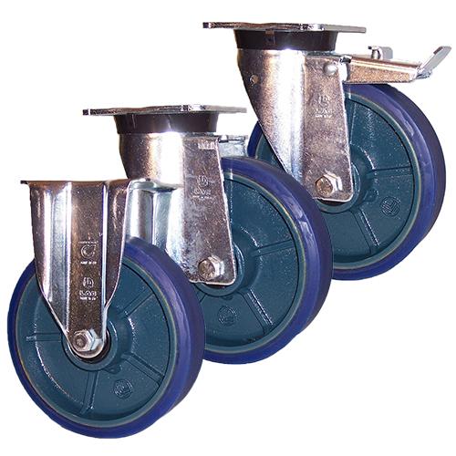 Blue Cast Iron M40 Castors