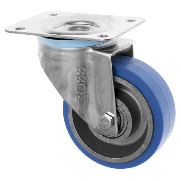 Stainless Steel Castors High Temp SS Series Medium Duty High Temp Rubber Wheel