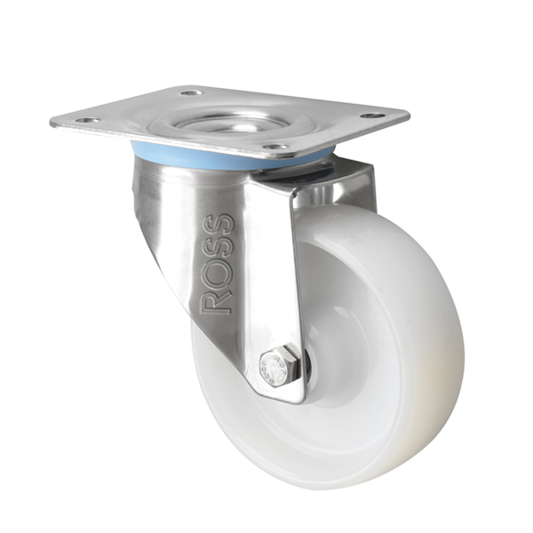 SS Series Medium Duty Stainless Steel Casters Nylon Wheel