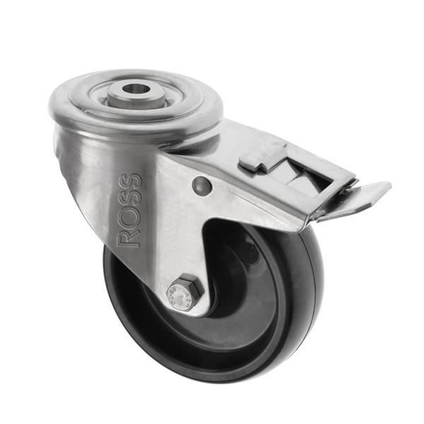 SS Series Bolt Hole Stainless Steel Casters with a Termotex High Temp Wheel
