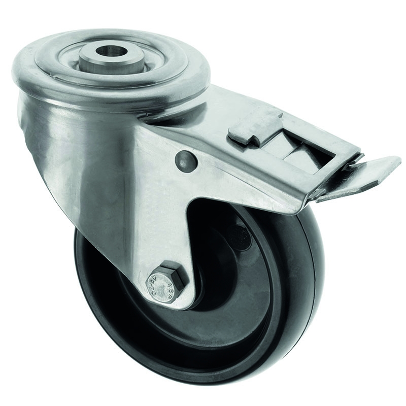 Stainless Steel Castors High Temp SS SeriesMedium  Duty Bolt Hole