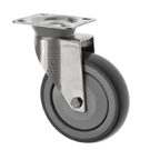 Stainless Steel Castors Anti Static SSL Series Light Duty Anti-Static Rubber Wheel