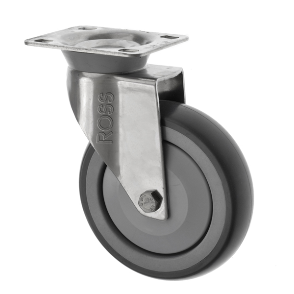 SSL Series Light Duty Stainless Steel Casters Rubber Wheel