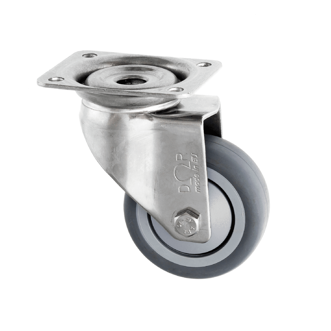 Stainless Steel Castors Thermoplastic Rubber Wheel Series SSL